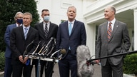 Airline executives speak after a meeting at the White House in Washington