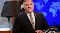 U.S. Secretary of State Mike Pompeo conducts a news conference at the State Department