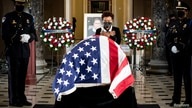 Casket of the late Supreme Court Justice Ruth Bader Ginsburg lies in state at the U.S. Capitol in Washington