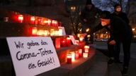 Activists of #wirgebendenToteneinGesicht commemorate all the nameless people who died of coronavirus disease (COVID-19)