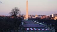 """The Washington Monument and the """"Field of flags"""" are seen ahead of the inauguration of Joe Biden as the 46th President of the United States, in Washington"""