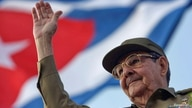 FILE PHOTO: Cuba's President Raul Castro waves to the crowd during the May Day parade at Havana's Revolution Square
