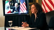 U.S. Vice President Kamala Harris and Mexico's President Andres Manuel Lopez Obrador hold a virtual bilateral meeting, in Washington