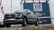 FILE PHOTO: Ford Motor Co. displays a new 2021 Ford F-150 pickup truck at the Rouge Complex in Dearborn, Michigan