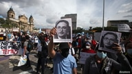 People take part in a protest in support of Juan Francisco Sandoval, in Guatemala City