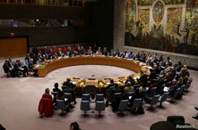 The United Nations Security Council meets about the situation in Syria at United Nations Headquarters in the Manhattan borough…