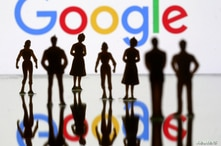 FILE PHOTO: Small toy figures are seen in front of Google logo in this illustration picture, April 8, 2019. REUTERS/Dado Ruvic…