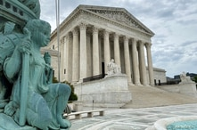 FILE PHOTO: A general view of the United States Supreme Court in Washington, U.S., May 3, 2020. Picture taken May 3, 2020…