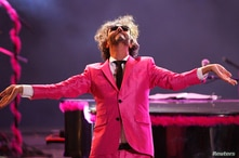 Argentine musician Fito Paez performs during the 55th International Song Festival in Vina del Mar city, about 121 km (75 miles)…