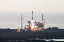 A United Launch Alliance Atlas V rocket carrying NASA's Mars 2020 Perseverance Rover vehicle takes off from Cape Canaveral…