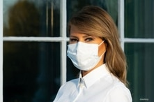 Melania Trump with mask