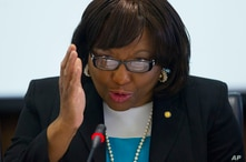 Dr. Carissa F. Etienne, director, Pan America Health Organization (PAHO) at the World Health Organization (WHO) speaks during…