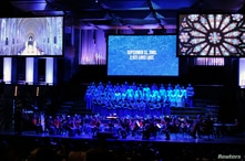 """The U.S. Marine Chamber Orchestra is joined with the U.S. Navy Band Sea Canters and the National Cathedral Choir at a """"Concert…"""