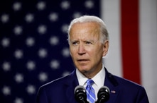 FILE PHOTO: Democratic U.S. presidential candidate and former Vice President Joe Biden arrives to speak about modernizing…