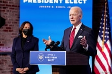 U.S. President-elect Joe Biden speaks about his plan to administer coronavirus disease (COVID-19) vaccines to the U.S…