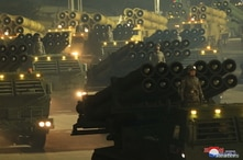 Military equipments are seen during a military parade to commemorate the 8th Congress of the Workers' Party in Pyongyang, North…