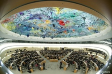 FILE PHOTO: Overview of the session of the Human Rights Council during the speech of U.N. High Commissioner for Human Rights…