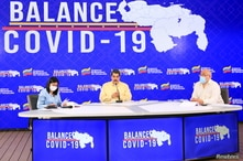 Venezuela's President Nicolas Maduro speaks during an announcement promoting Carvativir, what Venezuela's government says is a…