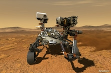 FILE PHOTO: NASA's Perseverance Mars rover, the biggest, heaviest, most advanced vehicle sent to the Red Planet by the National…