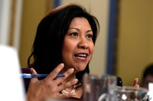 Representative Norma Torres, D-Calif., speaks during a House Rules Committee hearing on the impeachment against President…