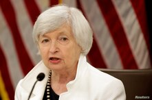 FILE PHOTO: Federal Reserve Chairman Janet Yellen speaks during a news conference after a two-day Federal Open Markets…