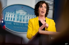 National Security Council Coordinator for U.S. Southern Border Roberta Jacobson speaks at a press briefing at the White House,…
