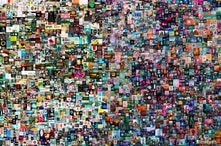 """FILE PHOTO: """"EVERYDAYS: THE FIRST 5000 DAYS"""" is a collage, by a digital artist BEEPLE, that is on auction at Christie's,…"""