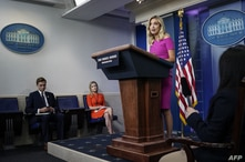 WASHINGTON, DC - JUNE 22: Press Secretary Kayleigh McEnany speaks during a press briefing at the White House on June 22, 2020…