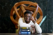 Illinois Institute of Technology student Wofai Ewa, originally from Nigeria, poses for a portrait Friday, Sept. 18, 2020, at…