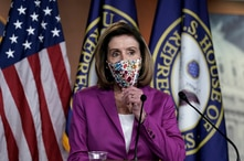 Speaker of the House Nancy Pelosi, D-Calif., holds a news conference on the day after violent protesters loyal to President…