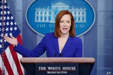 White House press secretary Jen Psaki speaks during a press briefing at the White House, Monday, March 8, 2021, in Washington. …