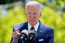 President Joe Biden speaks about COVID-19, on the North Lawn of the White House, Tuesday, April 27, 2021, in Washington. (AP…