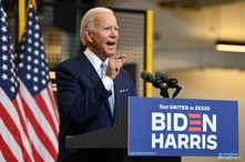 U.S. Democratic presidential nominee Joe Biden holds campaign event in Pittsburgh, Pennsylvania