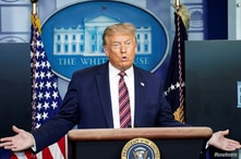 U.S. President Trump holds coronavirus disease (COVID-19) pandemic response briefing at the White House in Washington