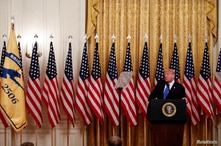 U.S. President Trump hosts veterans event at the White House in Washington