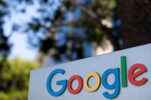 FILE PHOTO: A Google logo is shown at one of the company's office complexes in Irvine, California