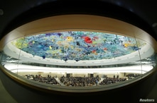 FILE PHOTO: UN Human Rights Council session in Geneva