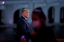 U.S. President Donald Trump takes part in a live one-hour NBC News town hall forum, in Miami