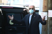 President-elect Biden departs The Queen following a virtual meeting with frontline healthcare workers in Wilmington