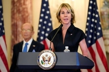 FILE PHOTO: U.S. Ambassador to the United Nations Kelly Craft during a news conference