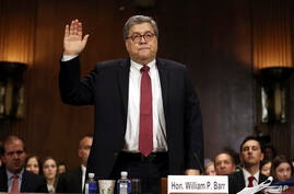 Fiscal general de EE.UU. William Barr, foto de archivo.