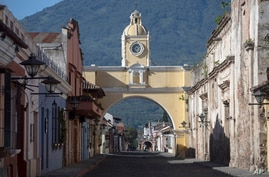 Santa Catalina's Arch is seen in Antigua, Guatemala, Sunday, June 21, 2020. President Alejandro Giammattei has been under…