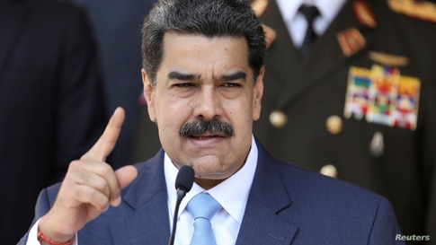 FILE PHOTO: FILE PHOTO: Venezuela's President Nicolas Maduro speaks during a news conference at Miraflores Palace in Caracas,…