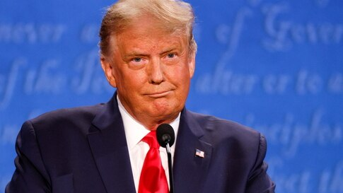 U.S. President Donald Trump participates in the second 2020 presidential campaign debate with Democratic presidential nominee…