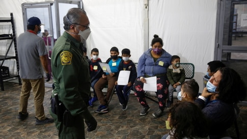 Migrants are processed at the intake area of the U.S. Customs and Border Protection facility, the main detention centre for…