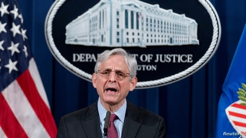 Attorney General Merrick Garland speaks about a jury's verdict in the case against former Minneapolis Police Officer Derek…