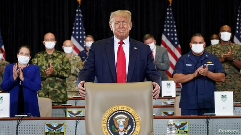 FILE PHOTO: U.S. President Trump visits the U.S. Southern Command (SOUTHCOM) in Doral, Florida