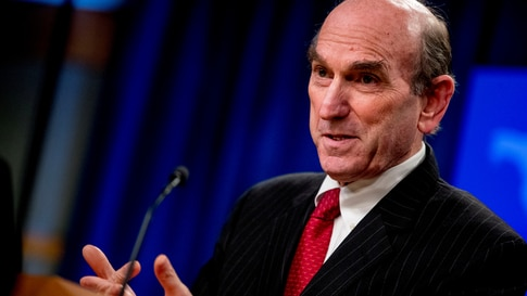 FILE PHOTO: Special Representative for Venezuela Elliott Abrams speaks during a news conference at the State Department, in Washington