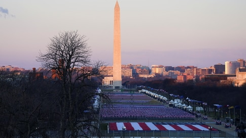 "The Washington Monument and the ""Field of flags"" are seen ahead of the inauguration of Joe Biden as the 46th President of the United States, in Washington"