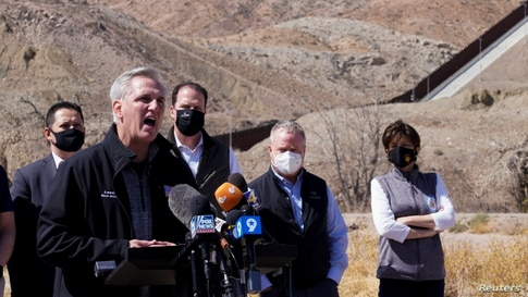 Republican lawmakers make trip to the U.S. southern border with Mexico in El Paso